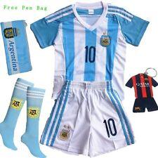 2016/2017 Argentina LIONEL MESSI #10 Home Soccer Kids Jersey & Short Set Youth