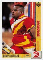 1991-92 Upper Deck Atlanta Hawks Basketball Card #292 Rumeal Robinson