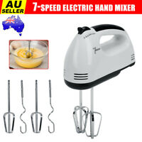 7-Speed Electric Hand Held Mixer Electronic Handheld Whisk Food Blender Egg Cake