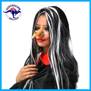 Witch Halloween Rubber Nose with Wart Party Cosplay Costume Wicked Fake Toy