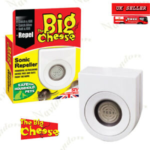Big Cheese Sonic Mouse and Rat Reveller Plug-In, Humane, Ultrasonic Rodent