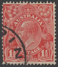 CV $20 ACSC 92a INVERTED WATERMARK Small Multiple Crown KGV head three halfpence