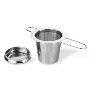 Schramm® Edelstahl Teesieb Teefilter losen Tee für Tasse und Kanne mit langem Gr