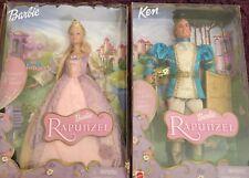Raiponce Barbie & Ken poupée qui parle et sons - 2001-Boîte d'origine jamais ouverte-RARE!