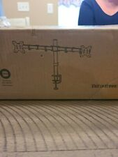 """VIVO Dual Monitor 13"""" to 30"""" Desk Mount Stand, Heavy Duty, Fully Adjustable"""