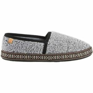 Acorn Women's Moccasins Woven Trim Comfort Stormy Grey, Extra Large A19011STGWXL