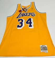 Los Angeles Lakers Jersey Mitchell & Ness LA Shaq O'Neal SEWN Men's XL X-Large