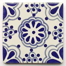 "Handbemalte Fliese ""Lace Azul"" aus Mexiko, Kacheln, ca. 10x10 cm"