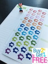 S083-Laundry Washing Machine Dry Cleaning Planner Stickers Erin Condren