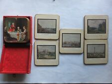 VINTAGE WIN-EL-WARE COASTERS  BOXED SET - MADE IN ENGLAND + 5 others