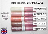Maybelline WATERSHINE GLOSS lip ORIGINAL lipgloss  (pink lid) shade  choice