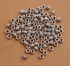 100Pcs Tibetan Silver Spacer Beads For Jewelry Making 5X4MM C3084
