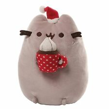Gund PUSHEEN Cat Stuffed Plush Mug of Hot Chocolate with Whipped Cream Christmas