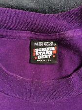 Vtg 80s Early 90s Screen Stars Plain Purple T-Shirt M Blank 50/50 Made In Usa