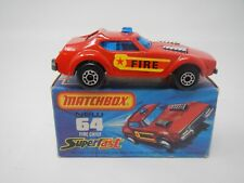 Matchbox SuperFast Fire Chief MB64