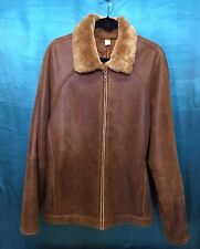MEN'S ASTON 100% REAL LAMBSKIN WITH GENIUNE SHEARLING LINING JACKET SIZE L