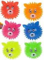 """Animal Head Spikey Balls (3"""" / 8) CM Flashing Puffer Light-up Filler Kids Toy"""