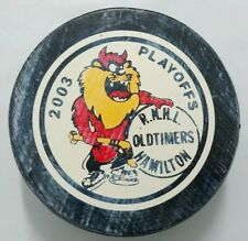 2003 PLAYOFFS OLD TIMERS HAMILTON RNHL GAME  VINTAGE VICEROY HOCKEY PUCK CANADA