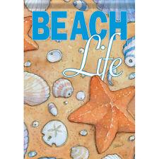 """New listing Beach Life Seashore House Flag 28"""" x 40"""" Double sided Flag by Carson"""