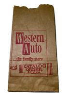 Vintage Western Auto Paper Bag Country Store Catslog Order Pick Up