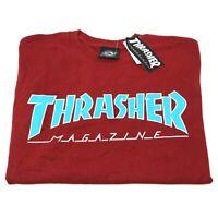 Thrasher Magazine Outlined Logo Short Sleeve T Shirt, Red - Men's Size S M L XL