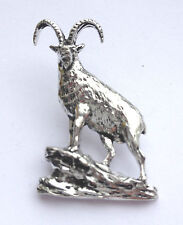 Ibex On Rocks Hand Made in Uk Pewter Lapel Pin Badge