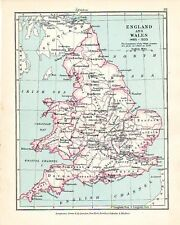 VICTORIAN MAP ~ ENGLAND 1485 - 1603 & WALES (1543)