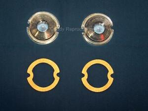 1948 - 1955 Cadillac PARK Light Lens Pair Lenses with Gaskets