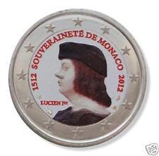 manueduc   MONACO 2 euros 2012  LUCIEN  AUTÉNTICA COLOREADA  NUEVOS