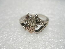 Vintage Sterling Silver Black Hills Gold Ring, (Leaf Motiff), size 6, 3.30 gr.