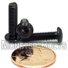 (10) M4 x 16mm - Button Head Socket Caps Screws ISO 7380 12.9 Alloy Steel Blk Ox