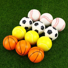 12x Ballon de Sport Baseball Basket-ball Football en Mousse Jouets en Plein Air