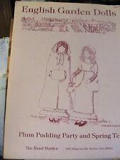 ENGLISH GARDEN DOLLS~The Hand Maiden~MIRIAM GOURLEY RARE 1986 doll patterns