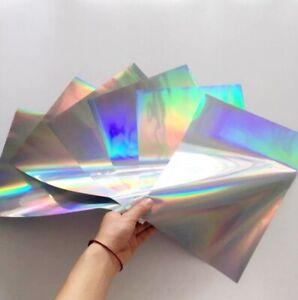 UK SELLER - A4 Toner Foil HOLOGRAPHIC, Laser foil, heat transfer foil 50 sheets