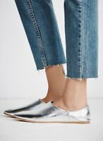 NEW Jeffrey Campbell Lexie Silver Leather Flats Size 8.5