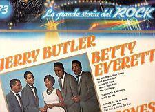 JERRY BUTLER BETTY EVERETT  CLEFTONES disco LP 33 GRANDE STORIA ROCK 73  SEALED