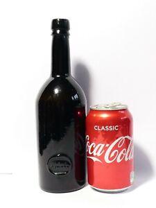 19thC Brown Glass Sealed Wine INNER TEMPLE Bottle empty #2