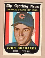 1959 TOPPS BB #118 JOHN BUZHARDT/CUBS EX/EX+