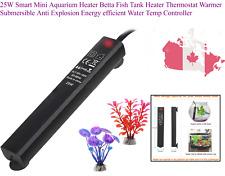 25W Smart Mini Aquarium Heater Betta Fish Tank Heater Thermostat Warmer Subme...