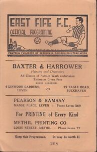 East Fife v Queen of the South 25 Aug 1962