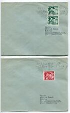 Germany #B132-33 Semi Postal 2 Sets on 4 Covers with Slogan Cancels PH2897