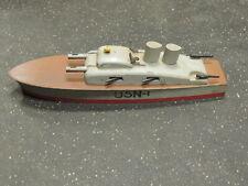 Keystone USN-1 Wood Toy Ship Navy PT Boat