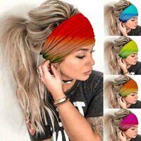 Womens Boho Printed Headband Wide Elastic Hairband Sport Yoga Turban Headwrap