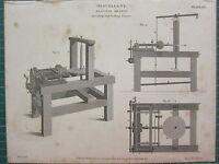 1812 Datato Antico Stampa ~ Miscellany Diagonale Movimento Dividendo & Taglio