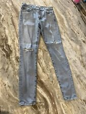 Agolde Womens Light Wash Distressed Blue Jeans Size 25