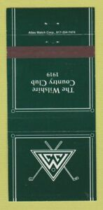 Matchbook Cover - Wilshire Country Club 30 Strike