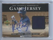 2000 Upper Deck Manny Ramirez Game Used Jersey Autograph Cleveland Indians