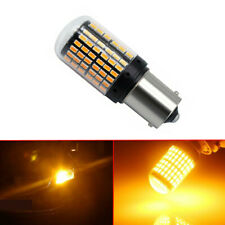 Yellow/Amber BAU15S 1156 Turn Signal Light PY21W 144SMD Canbus No Error LED Bulb