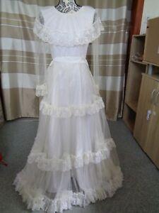 (83)Edles Damen Braut Standesamt Abend Kleid GR: 38