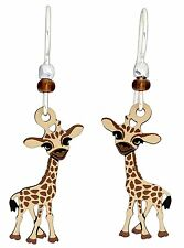 BABY GIRAFFE Hypo-Allergenic Earrings, Sterling Silver Plated, by Sienna Sky